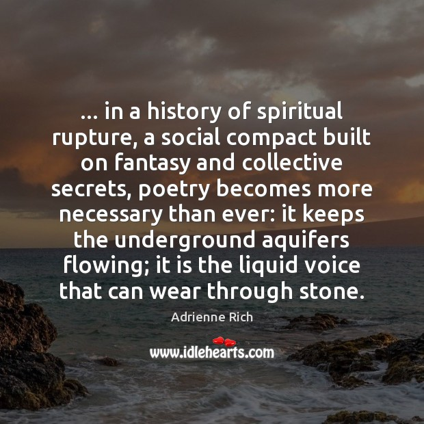 … in a history of spiritual rupture, a social compact built on fantasy Image