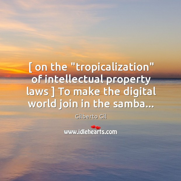 """[ on the """"tropicalization"""" of intellectual property laws ] To make the digital world Image"""