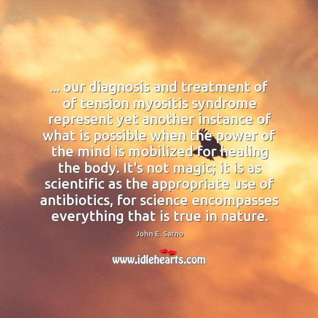… our diagnosis and treatment of of tension myositis syndrome represent yet another Image