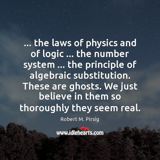 Image, … the laws of physics and of logic … the number system … the principle