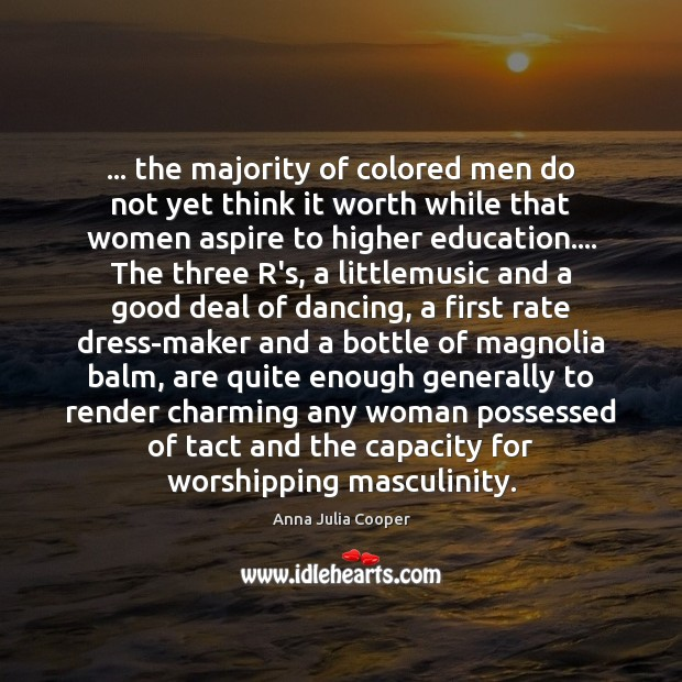 Image, … the majority of colored men do not yet think it worth while