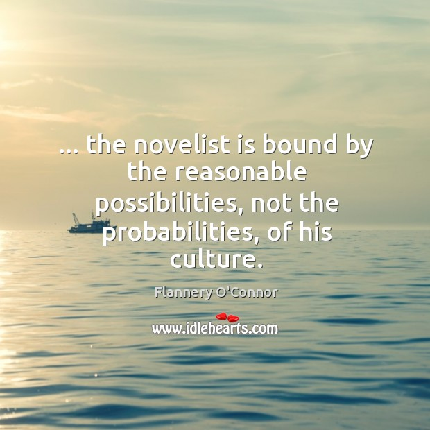 Image, … the novelist is bound by the reasonable possibilities, not the probabilities, of