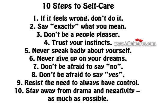 10 steps to self-care Image