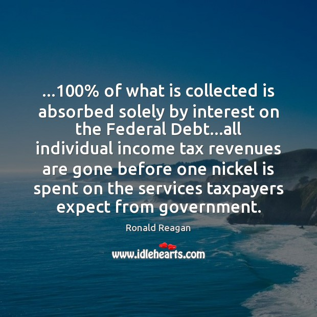 …100% of what is collected is absorbed solely by interest on the Federal Image