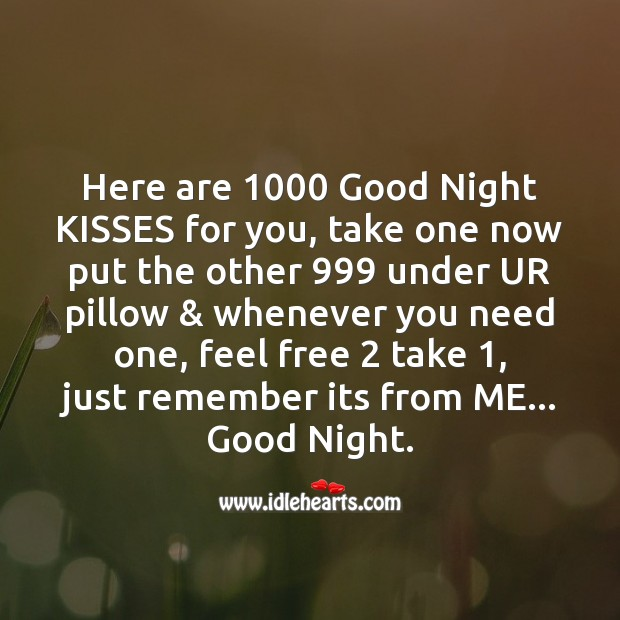 1000 good night kisses for you Image