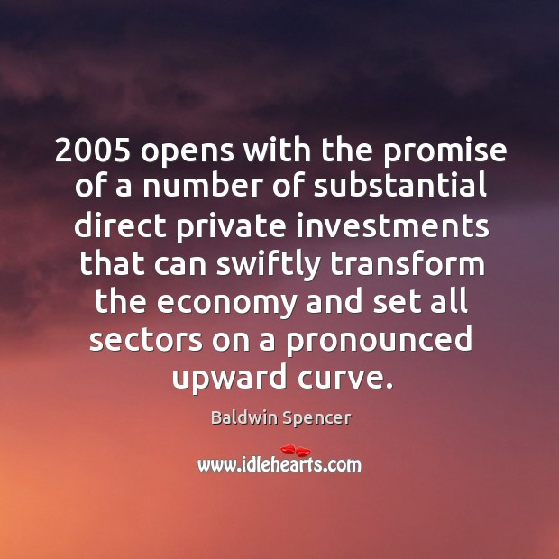 2005 opens with the promise of a number of substantial direct private investments that can Image