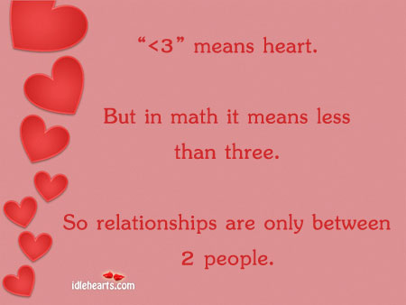 Image, Relationships are only between two people.