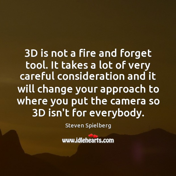 3D is not a fire and forget tool. It takes a lot Image