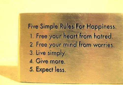 Image, 5 simple rules for happiness