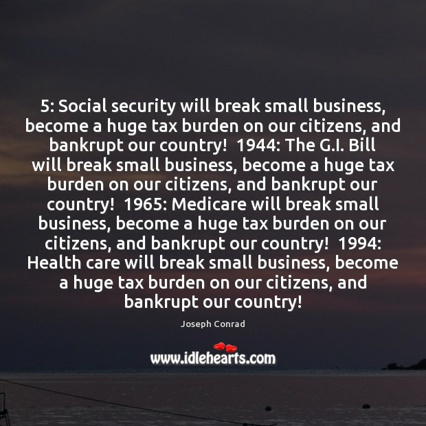 5: Social security will break small business, become a huge tax burden on Image
