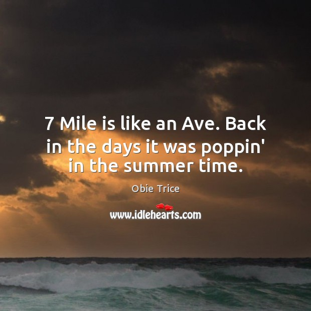 7 Mile is like an Ave. Back in the days it was poppin' in the summer time. Image