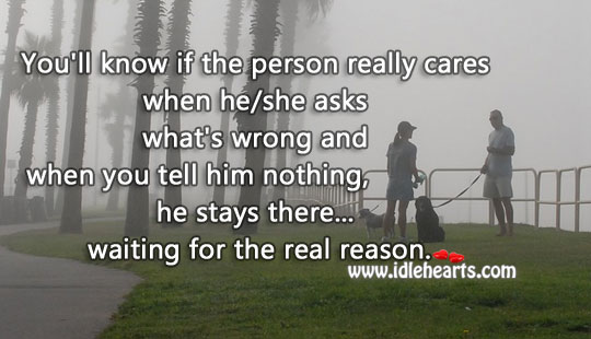 A Person Really Cares When