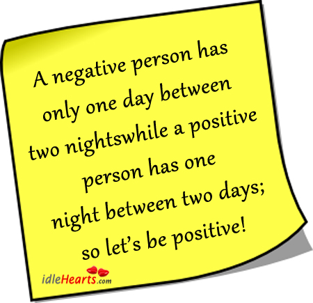 Image, Positive thinking vs negative thinking