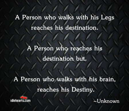 A Person Who Walks With His Legs Reaches…