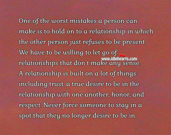 A relationship is built on a lot of trust Respect Quotes Image