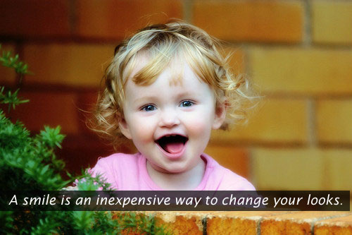 A Smile Is An Inexpensive Way To Change
