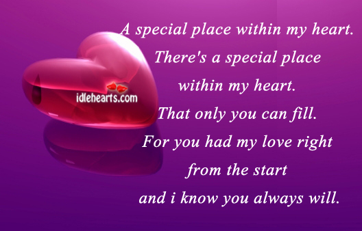 A special place within my heart. Image