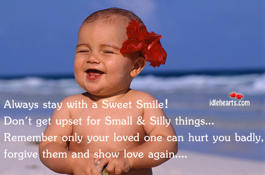 Always Stay With A Sweet Smile!!!