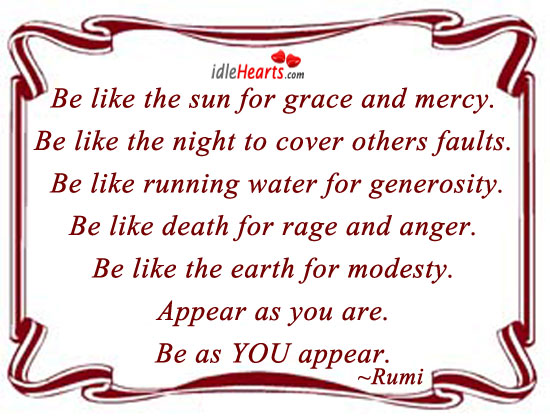 Be Like The Sun For Grace And Mercy.