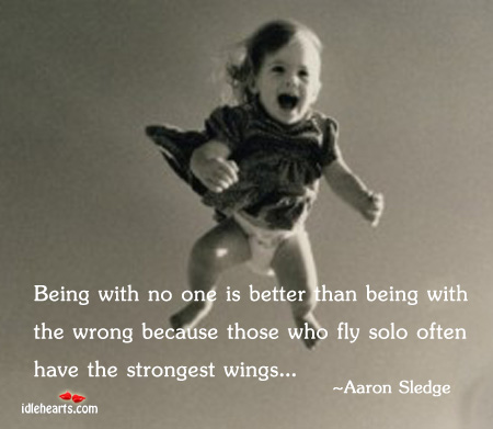 Being with no one is better than being Image
