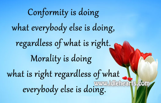 conformative and individuality Conventional wisdom holds that individuality is fostered most of all by free market economies and suppressed most by communist-led and socialist governments there.