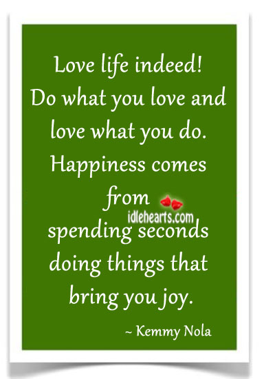Love life indeed! Image