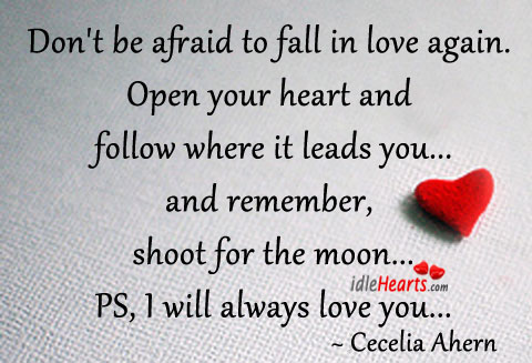 Dont Be Afraid To Fall In Love Again
