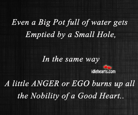 Even A Big Pot Full Of Water Gets Emptied By A….