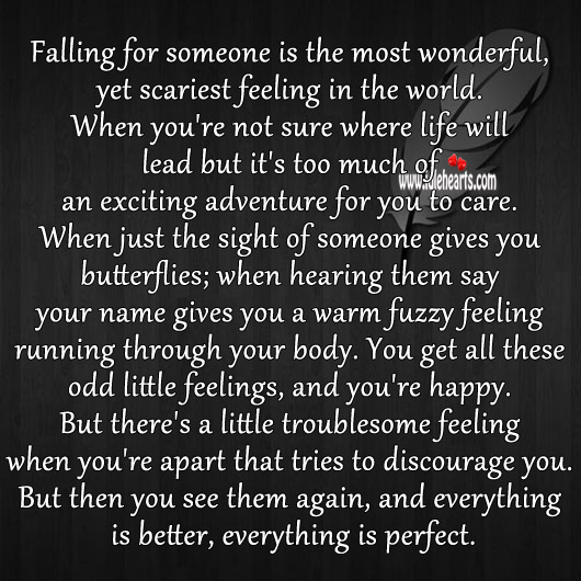 Falling for someone is most wonderful, yet scariest feeling Image