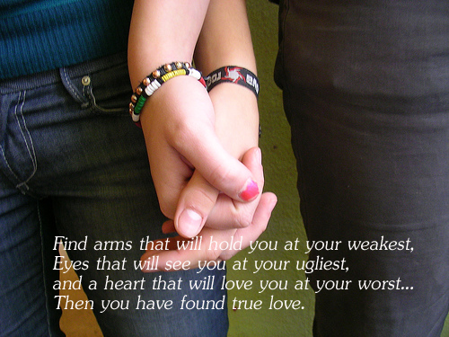 True love is when they love you at your worst Relationship Advice Image