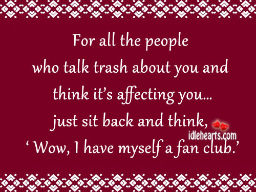 Just Sit Back And Think…..