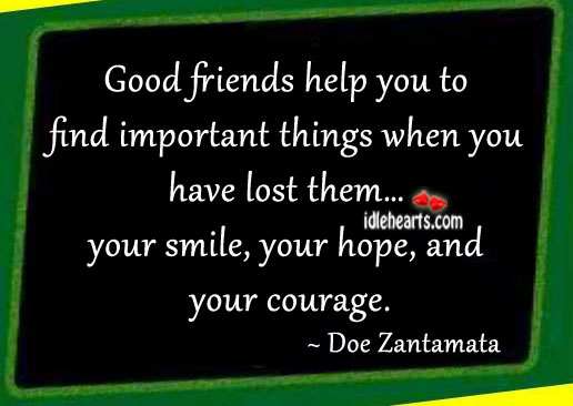 Image, Good friends help you to find important things when