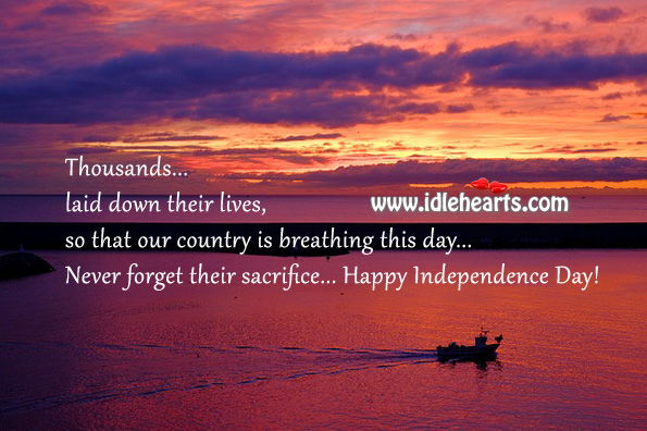 Happy independence day! Independence Day Quotes Image