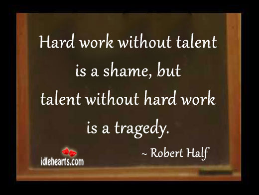 success is not without hard work and sacrifice Think of how many people do not have these choices or do not realize that they  do you only live once,  a successful college career requires years of hard work , and you can't expect to be a success without devotion and sacrifice this is an.