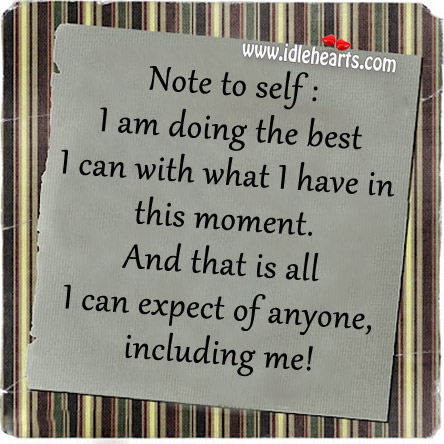 I am doing the best I can with what I have in this moment. Image