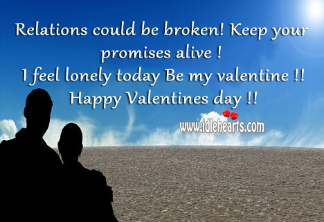 On valentine's day keep your promises alive. Valentine's Day Messages Image