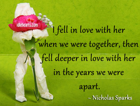 Image, I fell in love with her when we were together