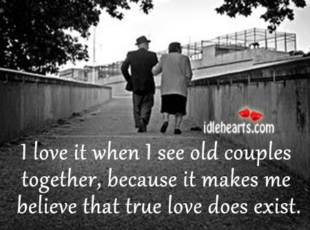 Image, I love it when I see old couples together.