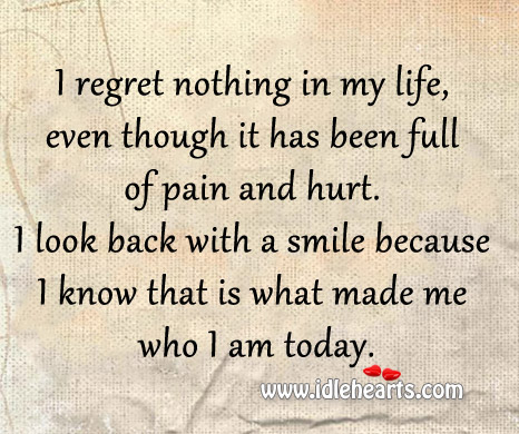 "regrets in life essay We all have secrets,things we regret,dreams we can't reach,and a love that we can never forgetin our entire life,how often do we utter the questions ""what."