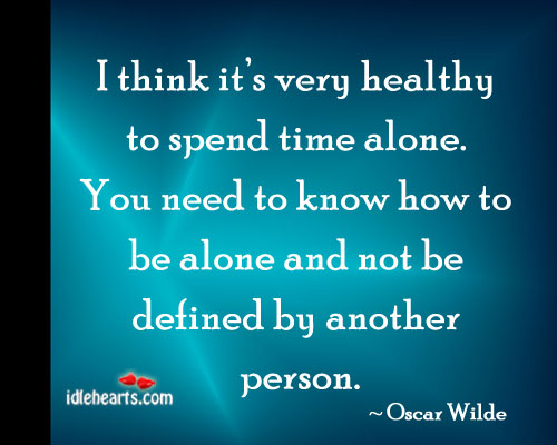 Image, It's very healthy to spend time alone