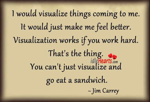 I Would Visualize Things Coming To Me.