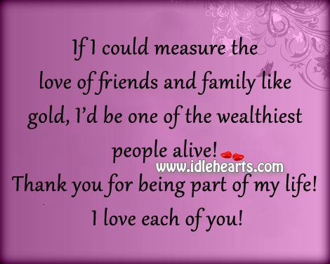 Thank You For Being Part Of My Life!