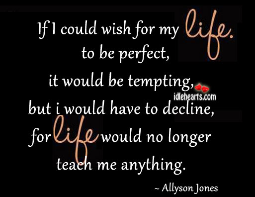 If I Could Wish For My Life To Be Perfect…