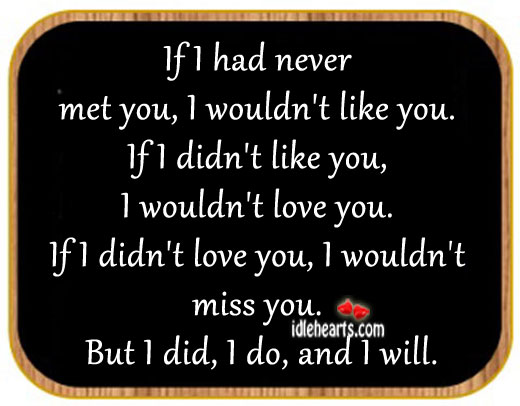 If I Never Met You Quotes