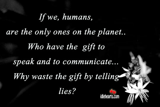 If We, Humans, Are The Only Ones On The Planet…