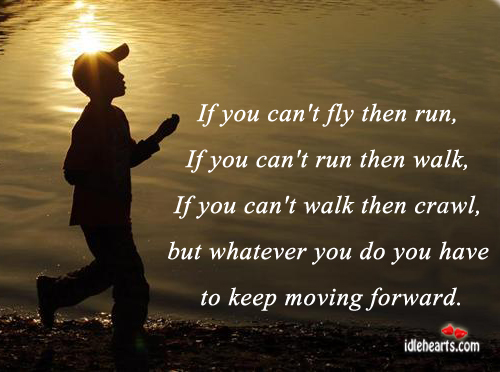 Image, If you can't fly then run, if you can't run then walk