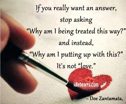 If You Really Want An Answer, Stop Asking…