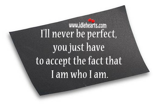 I'll Never Be Perfect