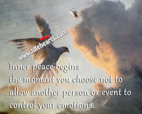 Inner Peace Begins The Moment You Choose