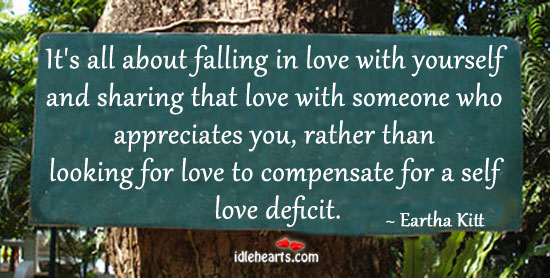 It's All About Falling In Love With Yourself And…